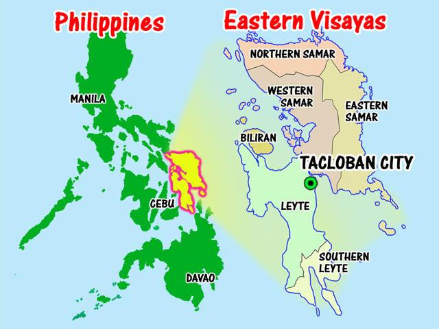 Western Samar Philippines  city pictures gallery : Philippines Samar map
