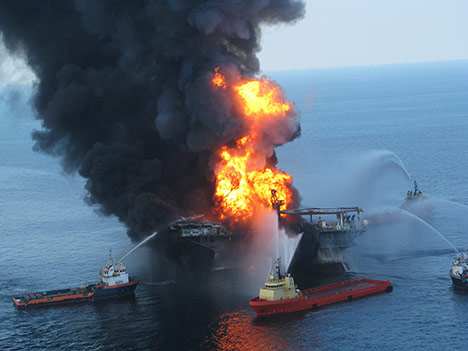 Burning oil rig explosion fire photo11