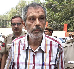 Kobad Ghandy after his arrest