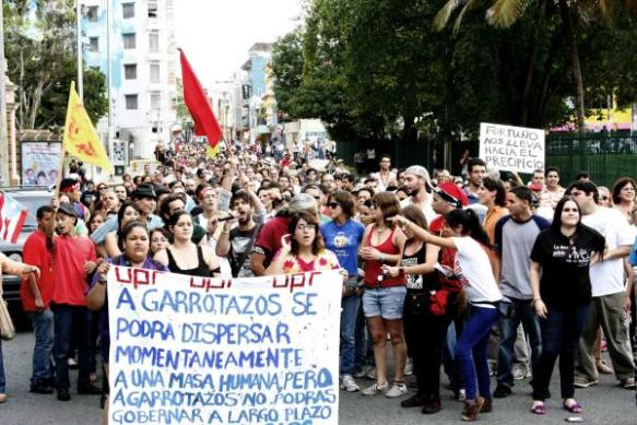 Puerto Rican student protest in 2010