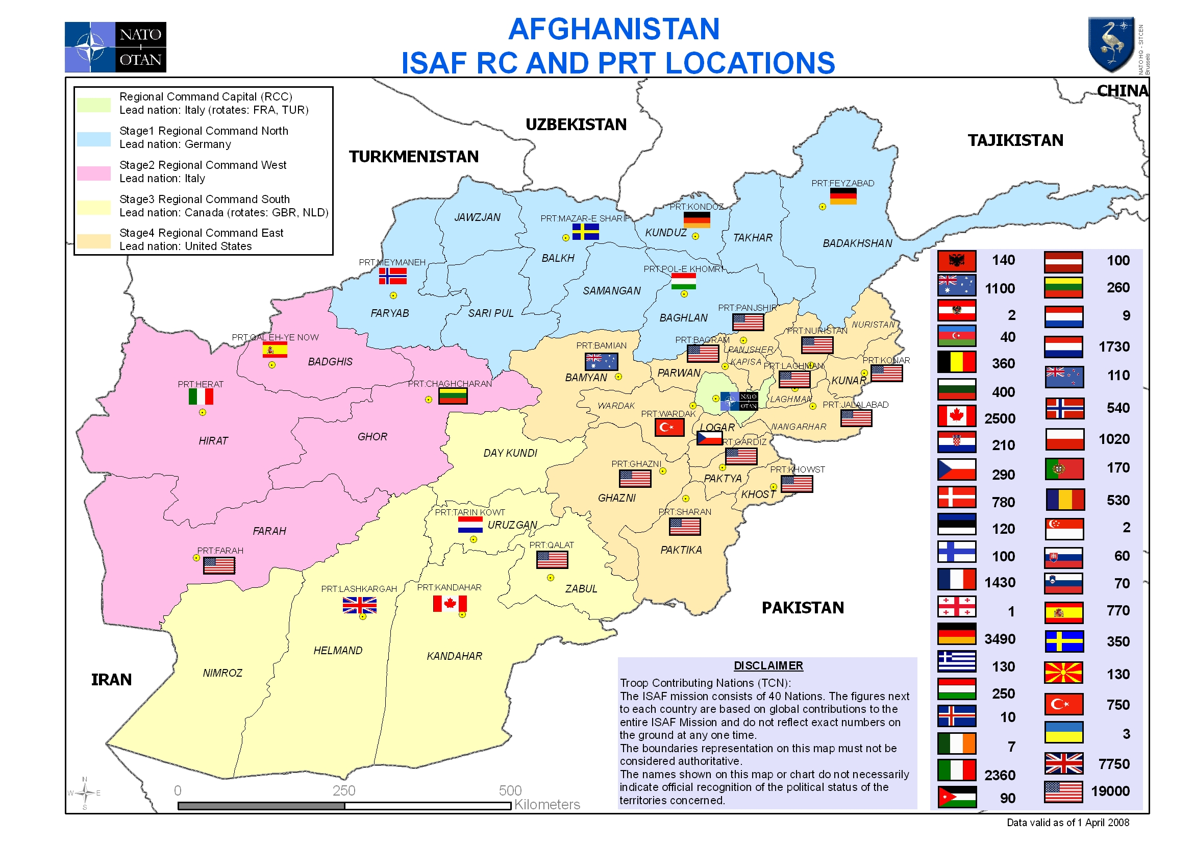 The EU And NATOs Role In The US War On Afghanistan Frontlines - Map pf nato and us bases