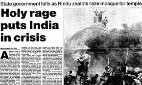 Guardian coverage of the Babri mosque attack