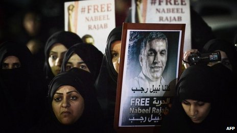 Nabeel Rajab, human rights journalist, is prolific Twitter user with more than 185,000 followers