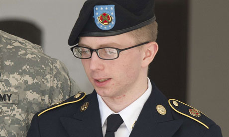 Manning's statement recounted how he had first become aware of WikiLeaks in 2009. Photograph: Jim Watson/AFP/Getty Images