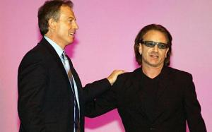 Bono and Tony Blair