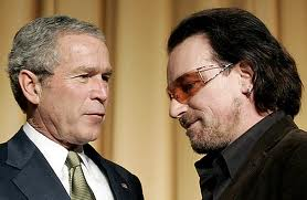 bono and George W. Bush