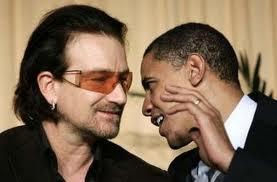 Bono and Barack Obama