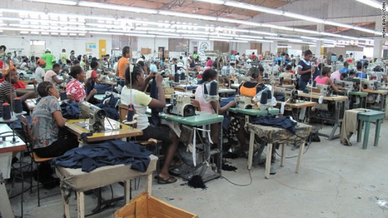 Sweat shop in Haiti (file foto)