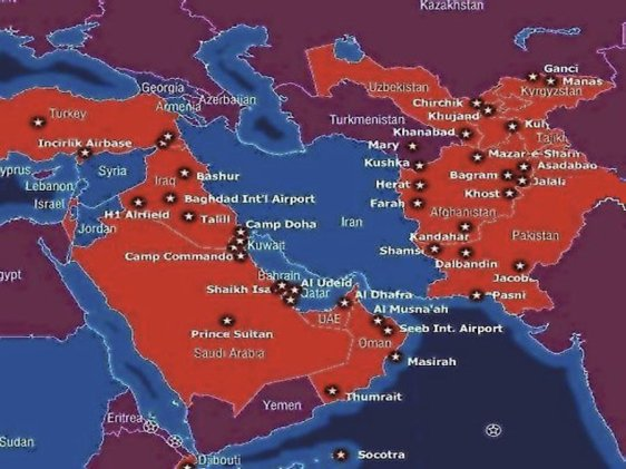 US Military Bases In The Middle East. The Number Has Exploded Over The Past Decade. Read more: http://www.businessinsider.com/the-15-maps-that-explain-the-world-in-2012-2012-6?op=1#ixzz2VY3KNvyr