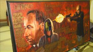 The Trayvon Martin mural by Huang