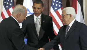 Netanyahu, Obama, and Abbas  --  Partners in a Theatrical Crime
